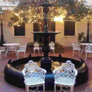 The beautiful courtyard at the Hotel Provincial - New Orleans LA