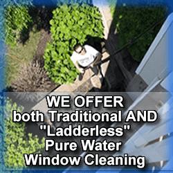 ladderless pure water window cleaning in roseland nj