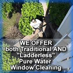 ladderless pure water window cleaning in roseland nj
