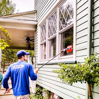 Window Cleaning in Mountain Lakes By Triple C